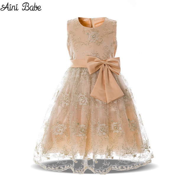 ec73a84ade68 Aini Babe Baby Fancy Girl Party Dress For Children Kids Prom Gowns ...