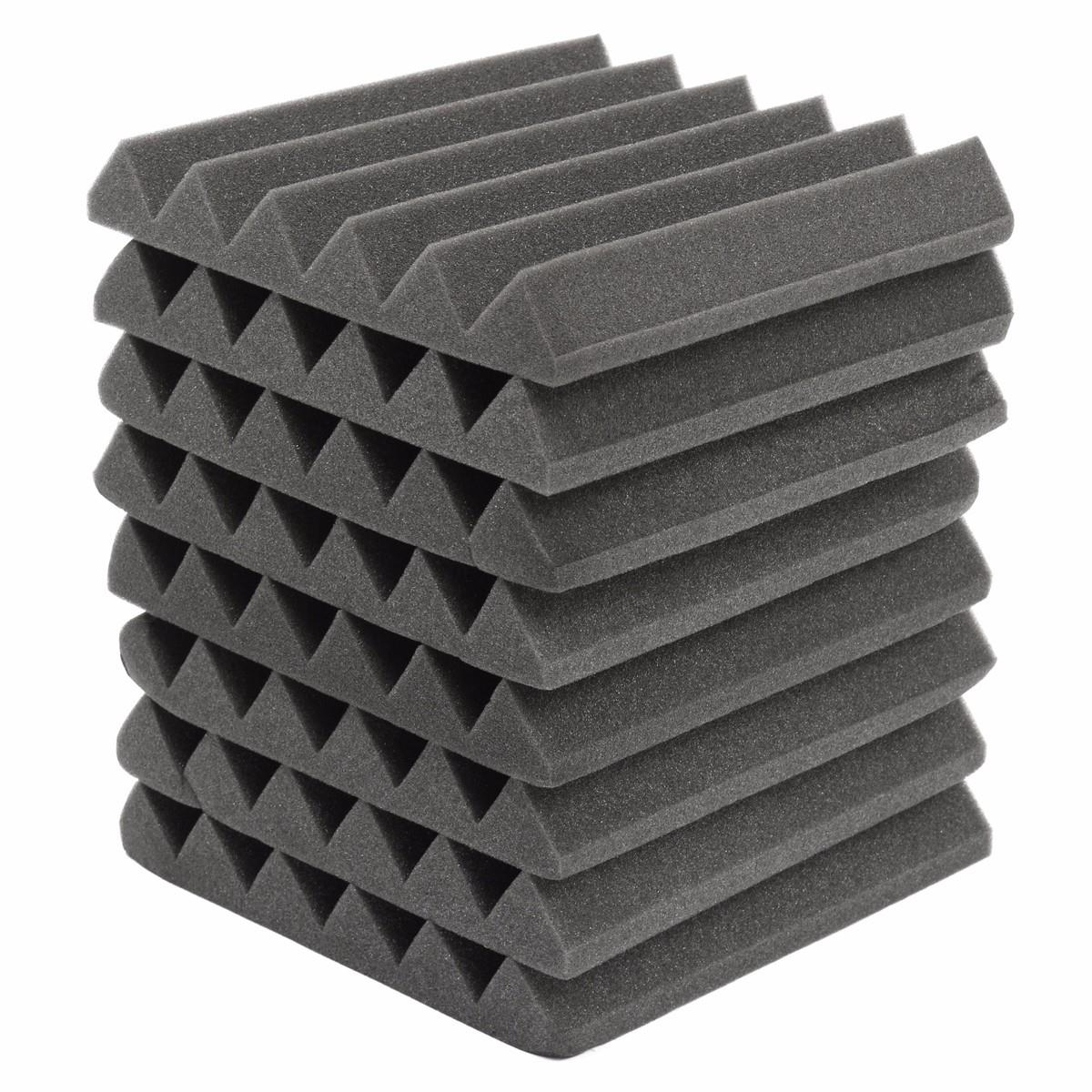 8Pcs 305 x 305 x 45mm Soundproofing Foam Acoustic Foam Sound Treatment Studio Room Absorption Wedge Tiles Polyurethane foam коробка для мушек snowbee slit foam compartment waterproof fly box x large