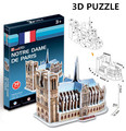 3D Puzzle Cubicfun Architecture Cardboard Model toy  Notre Dame De Parisw World Famous Building Assembly DIY Toys For Kids