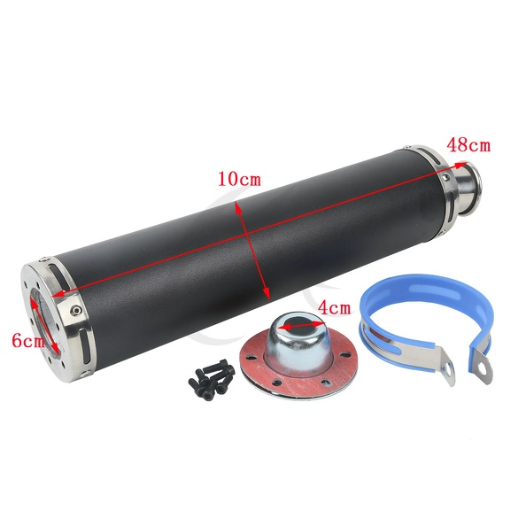 Motorcycle Black Dual Exhaust Mufflers Pipe For Suzuki SV1000 SV 1000 2003-2007 2004 05 New ark benefit u2 dual black