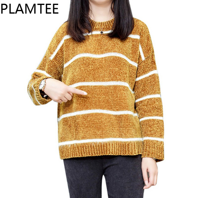 5fb93cfdb189 PLAMTEE Leisure Stripe Womens Maternity Sweaters Long Sleeves Knitting Pullover  Pregnancy Clothes Oversize Pregnant Women Tops