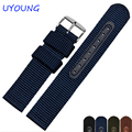 Hot Sales Nylon Watch Band Strap 18/20/22/24mm Black Army green Watch accessories For moto360 2nd Gen/Ticwatch/Samsung S2
