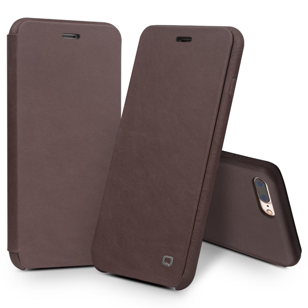 QIALINO Funda para iPhone 7 4.7 Funda de cuero con tapa abatible de - Accesorios y repuestos para celulares - foto 6