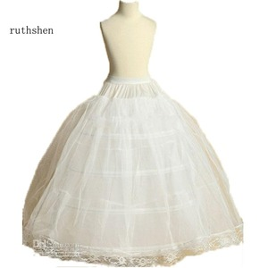 Image 3 - ruthshen New Arrival Flower Girls Petticoat 4 Hoop With Lace Appliques Little Kids Ball Gown Dress Underskirt Accessories