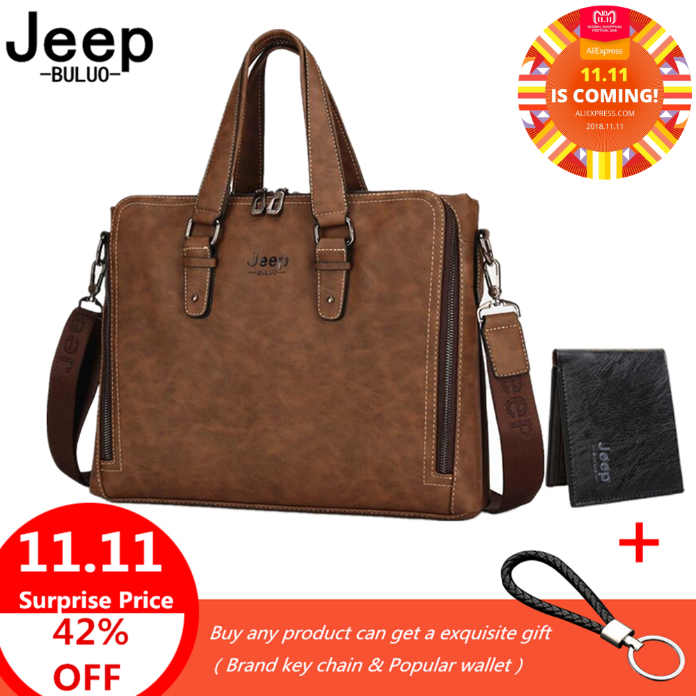 купить JEEP Brand Fashion Men Nubuck Leather Bag Laptop Briefcase Bag Causal Handbag Male Famous Brand Shoulder Messenger Bags по цене 2515.91 рублей