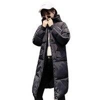 2018 Fashion Harajuku Style Winter Women Parkas Female Hooded Down Cotton Jacket Winter Women Coats Loose Outerwear ParkasCQ2262
