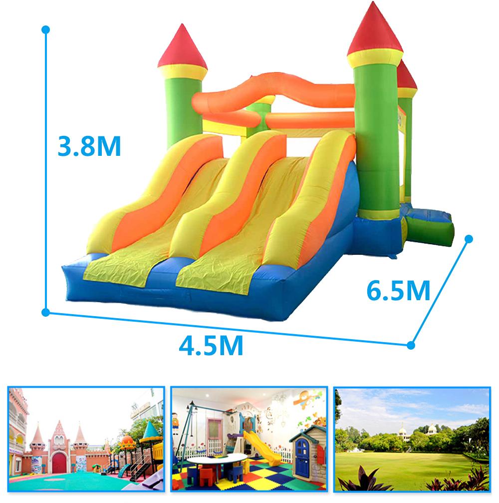 HTB1Q EzSXXXXXcwXFXXq6xXFXXXP - YARD Giant Dual Slide Inflatable Jump Castle Bouncy House with Blower