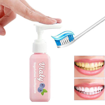 100ml Push Type Blueberry Vegetation Toothpaste Tooth Whitening Health Beauty Tool Dental Oral Care Easy Safe Teeth Beauty