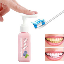 100ml Push Type Blueberry Vegetation Toothpaste Tooth Whitening Health