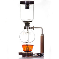 Coffee Siphon Pot maker Glass Syphon Coffee Maker Siphon Vacuum Pot, Filter Tools Siphon Coffee Machine 3 cups 5 cups