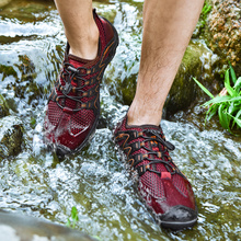 Big Size Men Women Outdoor Hiking Sandals Sneakers Breathable Shoes Trekking Trail Water Air Mesh