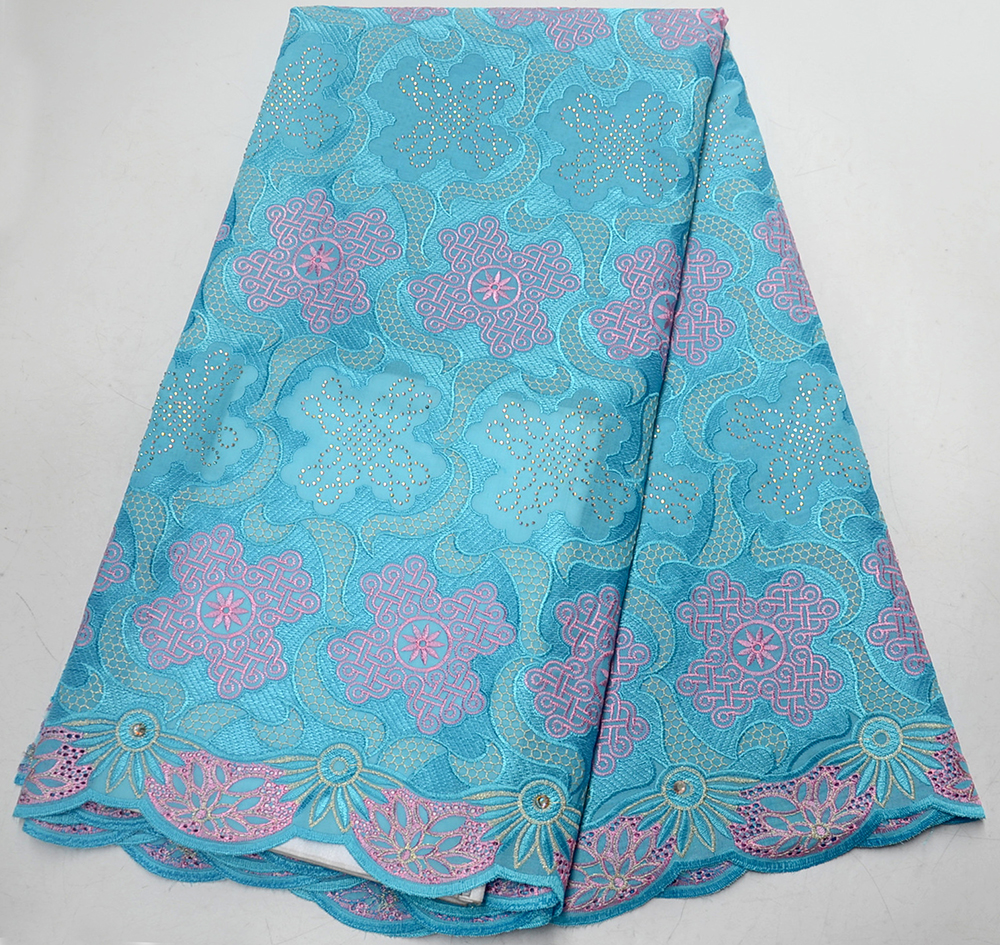 2019 Light blue Swiss Voile Lace In Switzerland High Quality African Dry Cotton Voile Lace Fabric For Wedding Party Dress 2019 Light blue Swiss Voile Lace In Switzerland High Quality African Dry Cotton Voile Lace Fabric For Wedding Party Dress