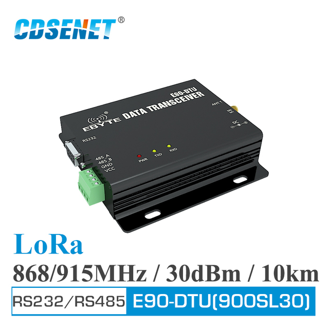 E90 DTU 900SL30 LoRa Relay RS232 RS485 868MHz 915MHz 1W Long Range Modbus Transceiver and Receiver RSSI Wireless RF Transceiver