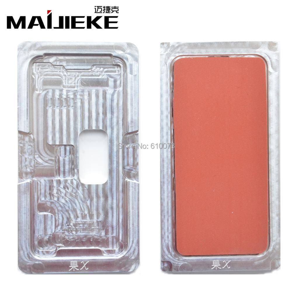 1 Set Nouveau MAIJIEKE moule en aluminium avec Tapis pour iphone X Plastifieuse moule LCD Écran De Laminage et Positionnement Alignement
