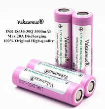 4PCS/LOT 100% Original 3.7V INR 18650-30Q 3000mAh 20A Discharging Rechargeable Batteries For Samsung 18650 Battery/E-Cigarette