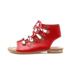 16a2e383a5 Xianyiduo 2019 de verano zapatos de mujer zapatos planos de sandalias de  tacón Beige rojo Roma