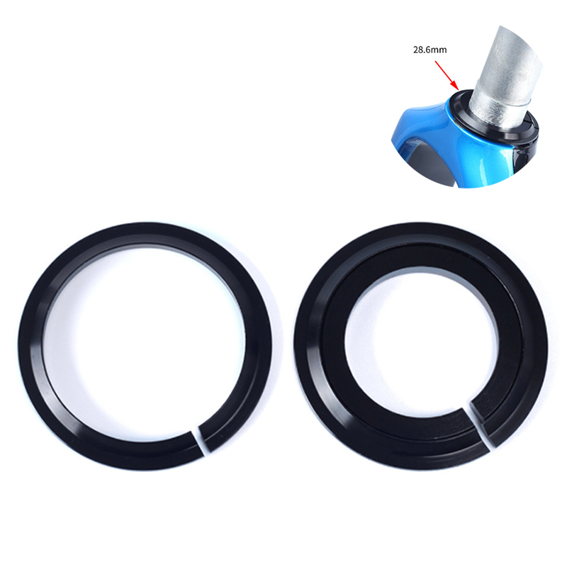 2.13inch Bike Headset Base Spacer Crown Race Bike Headset Washer Bicycle Parts 1.5inch Tapered Fork Straight Fork 45 degree(China)