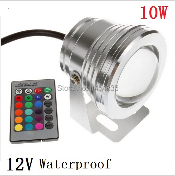 5pcs 10W 12v Underwater RGB Led Light 1000LM Waterproof IP68 Fountain Pool Lamp 16 Color Change With 24 Key IR Remote controller