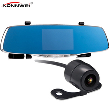 Dual Lens Car Camera Rearview Mirror Auto Dvrs Cars Dvr Recorder Video Registrator Full Hd1080p Night Vision Dash Cam DVR