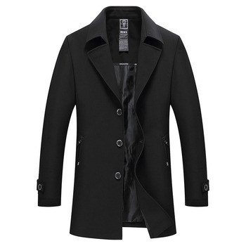 Plus size M - XXXXL trench coat men thin coats man stand collar single breasted casual outerwear 2019 spring autumn