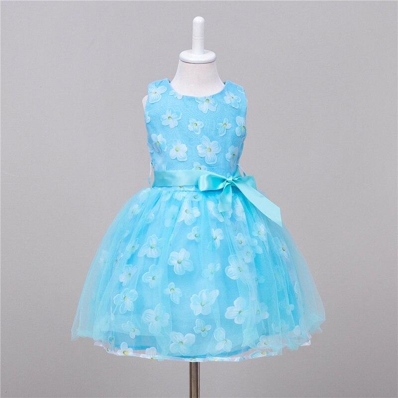 Girls Dresses summer Fashion Net yarn Flower Print Sleeveless Girl Party Dress children clothing vestidos infantis