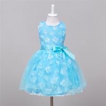 Filles Robes d'été De Mode Net fil Fleur Imprimer Sans Manches Party Girl Robe enfants vêtements robes infantis 5-12 T