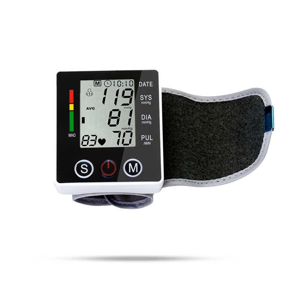 OLIECO อัตโนมัติเครื่องวัดความดันโลหิตเครื่องวัดความดันโลหิต PULSE Rate Heart Beat Sphygmomanometer PR จอแสดงผล LCD