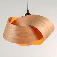 Loft Industrial Warehouse Wood Bark Pendant Lights American Country Lamp Vintage Lighting for Restaurant/Bedroom Home Decoration