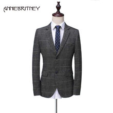 Gray Men Suits for Wedding Suit for Men Slim Fit Men Blazer Groom Tuxedo Formal Custom Men's Classic Suits terno masculino(China)