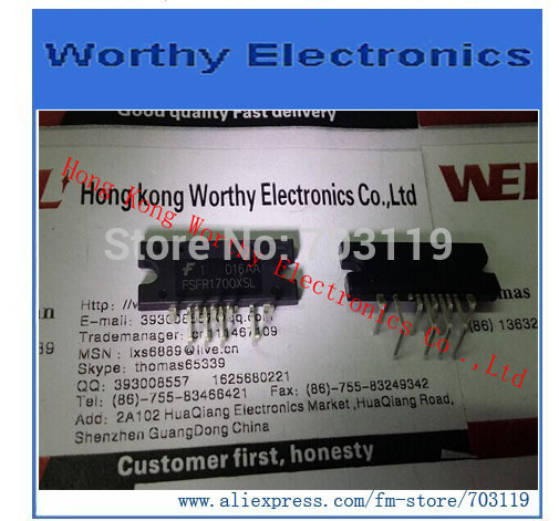 Free shipping 10PCS/LOT FSFR1700XSL FSFR1700XS FSFR1700X FSFR1700 IC FPS PWR SWITCH 200W 9-SIPL