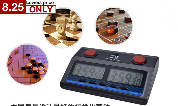 most professional Compact Digital Chess Clock Timer English instruction Bonus limit reward 6in1 mode Competition for GO chess все цены