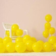 Yellow balloons 50pcs/lot10 inch 2.2g round helium latex balloon decoration anniversaire ballon birthday