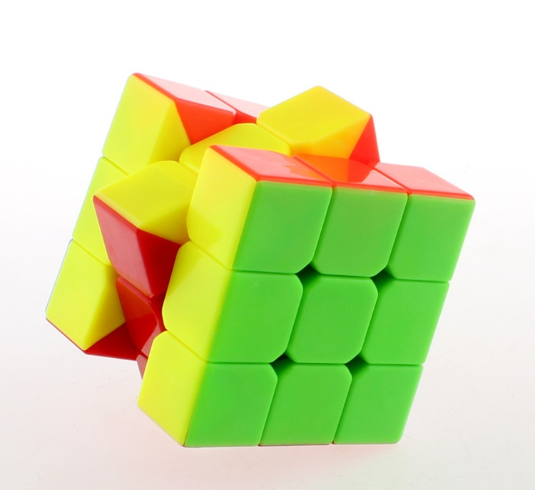 3x3x3 5.7cm Rubik Magic Fidget Cube Puzzle Speed Cubo No Sticker Educational Toys for Children Gifts