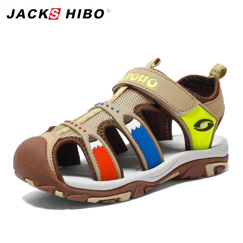 Kids Sandals Baby Close Toe Breathable Toddler Sandals for Boy Sandalias Leather Flat Sandals for Children Summer Beach ShoesKids Sandals Baby Close Toe Breathable Toddler Sandals for Boy Sandalias Leather Flat Sandals for Children Summer Beach Shoes