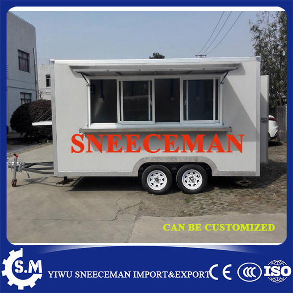 Mobile Kitchen Truck Food Van Sandwich Trailer Hamburger