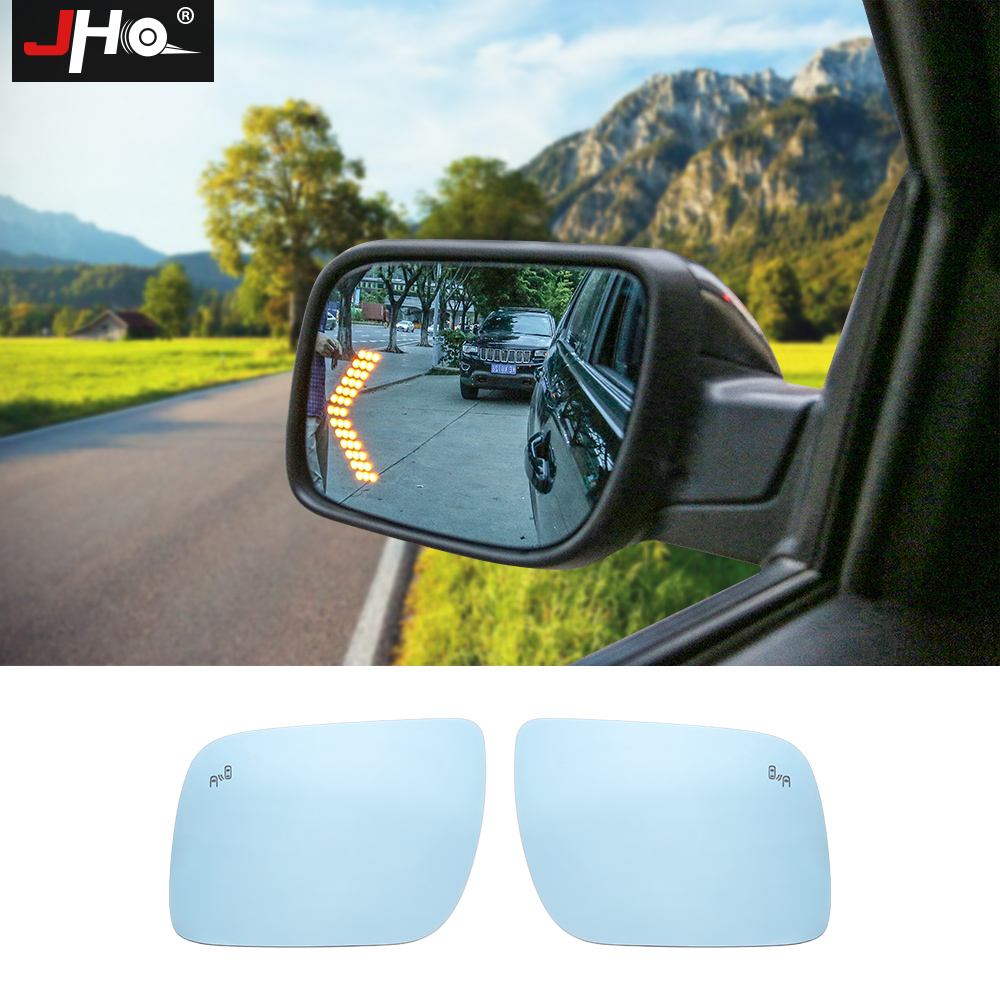 Jho Rear View Side Mirror Glass For Ford Explorer 2013 2018 With Led