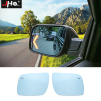 JHO Blue Anti glare Rear View Mirror w/ LED Turn Signal Light Heating Function for Ford Explorer 2013 2017 2015 2016 Car Styling