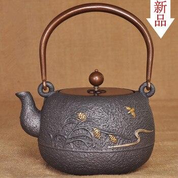 Оптовая продажа, чайник без покрытия ручной работы, старый железный чайник, вареный чайник, японский Железный чайник, импортный специальный