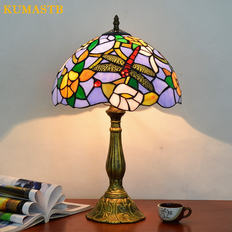 Quality Table Lamps: 12 Inch Stained Glass Table Lamp High Quality European
