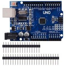 UNO R3 макетная плата ATmega328P CH340 CH340G для Arduino UNO R3 с прямым контактным разъемом
