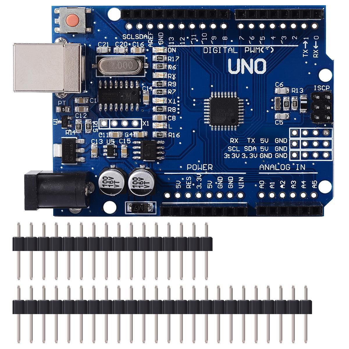 UNO R3 Placa De Desarrollo ATmega328P CH340 CH340G Para Arduino UNO R3 Con Cabezal De Pin Recto