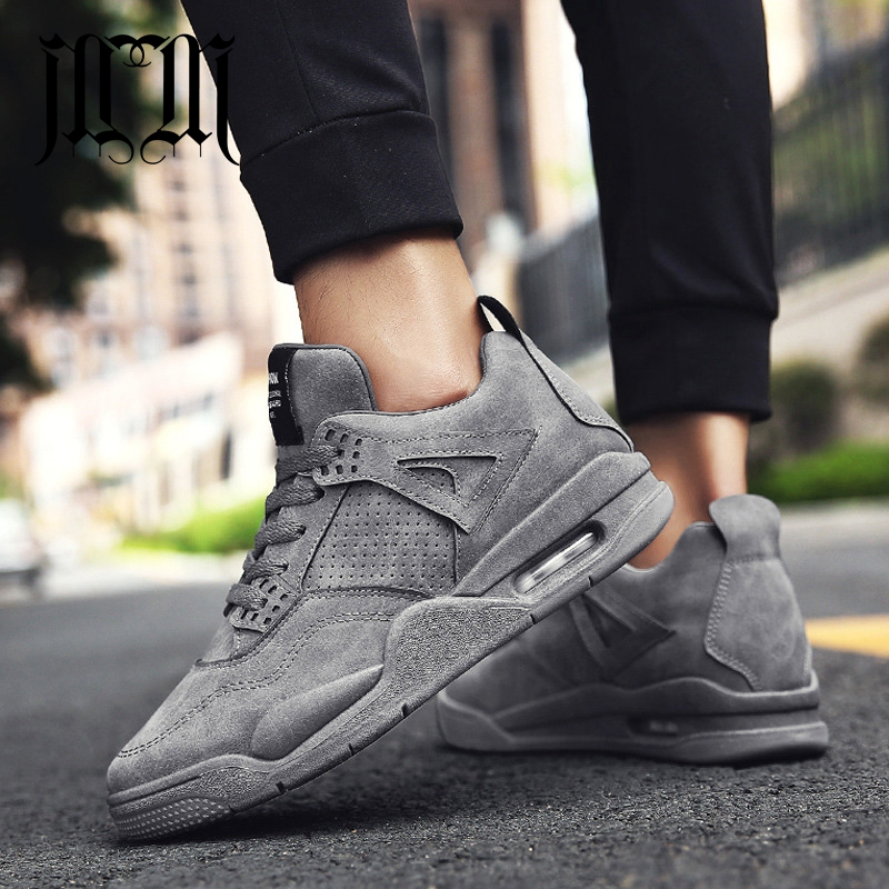 MumuEli Air Cushion Gray Green Black 2018 High Top Quality Shoes Men Winter Casual Designer Fashion Luxury Male Sneakers K616 1