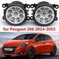 Для Peugeot 208 2014-2015 стайлинга Автомобилей передний бампер СВЕТОДИОДНЫЕ противотуманные фары высокой яркости противотуманные фары 1 компл.