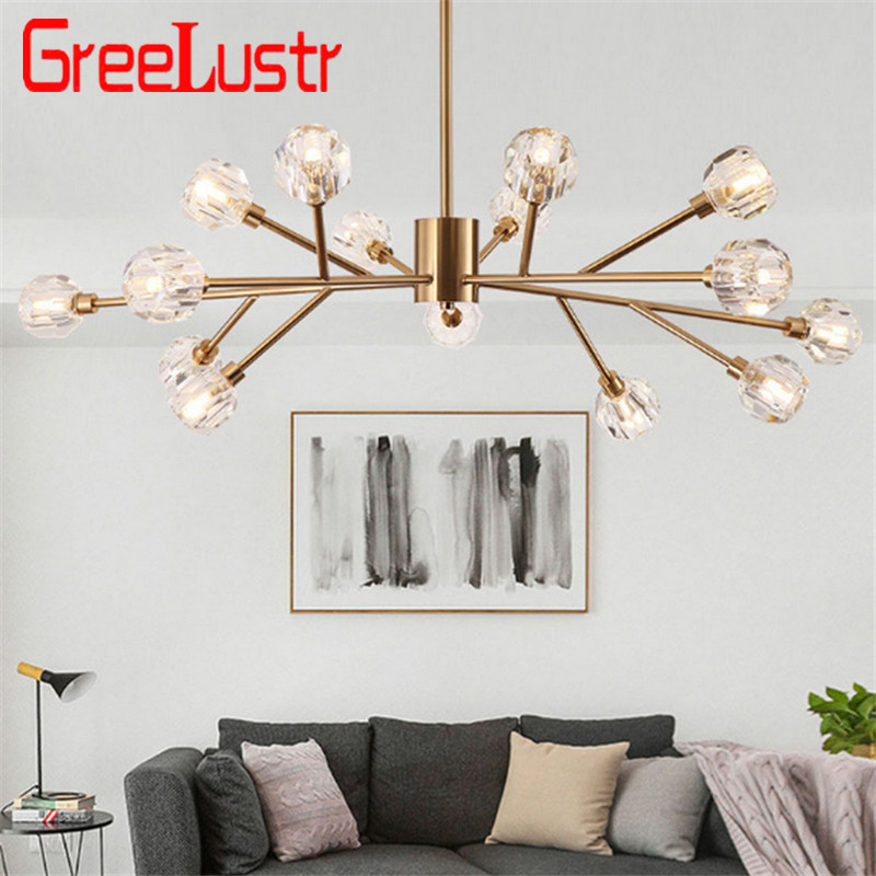 Luxury crystal ball chandeliers ceiling lamp Gold lustre G9 led lamp for bedroom dining room cristal lighting fixture chandelierLuxury crystal ball chandeliers ceiling lamp Gold lustre G9 led lamp for bedroom dining room cristal lighting fixture chandelier