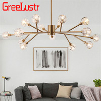 Luxury crystal ball chandeliers ceiling lamp Gold lustre G9 led lamp for bedroom dining room cristal lighting fixture chandelier