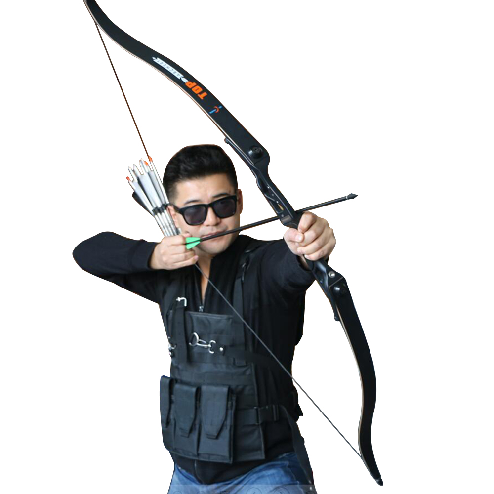 Free shipping 1 set toparchery aluminum recurve bow with bow bag 56 inches 40lbs arrow shooting