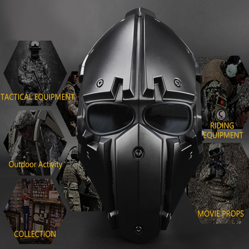 Motor Full Face Helmet Protective Obsidian Casque For Motorcycle Tactical Military Training Polymer Engineering Materials - 3