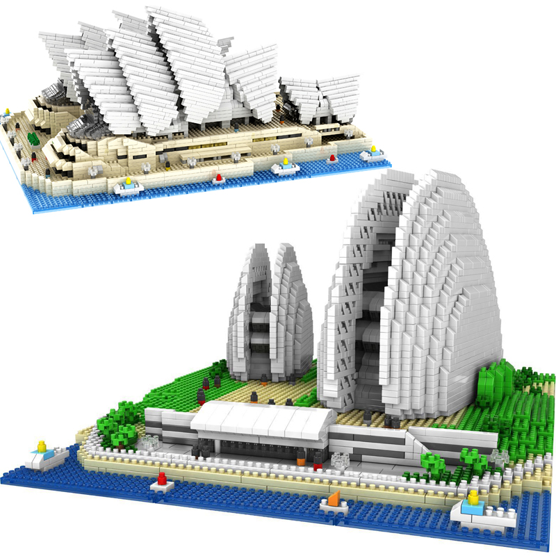 nanoblocks NO Compatible legoed mini architecture Sydney Opera House sets building nano blocks micro bricks toys