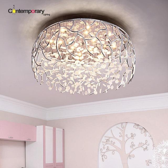 LED Dimmbare Moderne Kristall Deckenleuchte Mode Unterputz Kristall  Deckenleuchten Dekoration Lampen Für Wohnzimmer Lüster