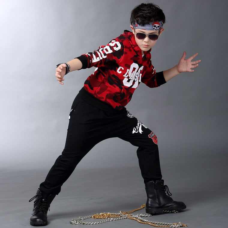 Childrens Clothing Autumn Suit For Kids Camouflage New Fashion Teenagers Street Dance Wear Sports Suits 2 Pieces Sets For Boys